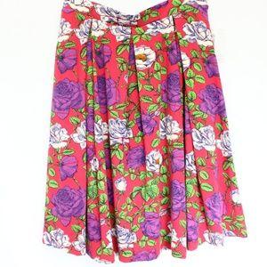 LuLaRoe Madison Circle Skirt Large NEW Floral Rose